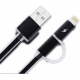 کابل شارژ هوشمند دو سر Tecon Aurora مخصوص اپل و اندروید