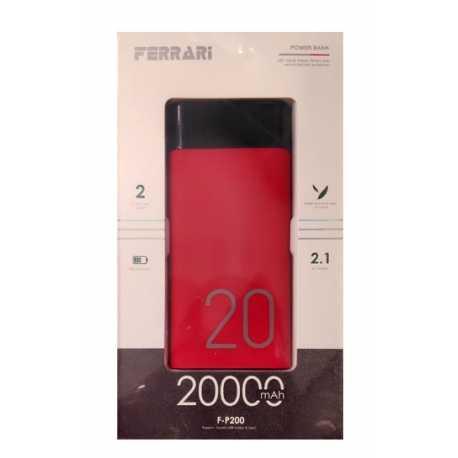 پاوربانک 20000 میلی آمپر Ferrari مدل F-P200