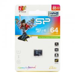 مموری میکرو اس دی 64 گیگ سیلیکون پاور Silicon Power Elite U1 85MB/s بدون خشاب